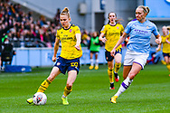 Arsenal Women defender Leonie Maier (20) and Manchester City Women forward Pauline Bremer (9) during the FA Women's Super League match between Manchester City Women and Arsenal Women FC at the Sport City Academy Stadium, Manchester, United Kingdom on 2 February 2020.