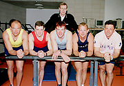 © Peter Spurrier Sports Photo<br /> e-mail  pictures@rowingpics.com<br /> tel 44 (0) 7973 819 551<br /> <br /> TWSC 2001<br /> The competitors line up with Pertti Karpinnen. standing at the back,   [Mandatory Credit, Peter Spurier/ Intersport Images]