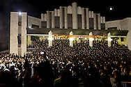 Kiryas Joel, New York - An estimated 70,000 members of an ultra-Orthodox Jewish community attend a bonfire celebration marking the Jewish holiday of Lag Baomer on Sunday, May 18, 2014. Local organizers say it is the largest such celebration in the United States.