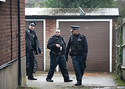 © Licensed to London News Pictures. 05/12/2018. London, UK. Police inspect another property believed to have been involved near a house in north London where a 77 year old woman has died after a burglary. The victim called Police to her address on Bells Hill around 6.00pm yesterday, after two suspects forced entry and stole her property. During the phone call to the 999 operator the woman collapsed.  She died in hospital this morning. Photo credit: Peter Macdiarmid/LNP
