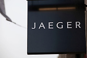 Sign for clothes shop Jaeger.