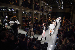 Models on the catwalk during the Burberry Autumn/Winter 2017 London Fashion Week show in Manette Street, London. Picture date: Monday February 20th, 2017. Photo credit should read: Matt Crossick/ EMPICS Entertainment.