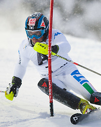 21.12.2011, Hermann Maier Weltcup Strecke, Flachau, AUT, FIS Weltcup Ski Alpin, Herren, Slalom 1. Durchgang, im Bild Cristian Deville (ITA) in Aktion // Cristian Deville of Italy in action during Slalom race 1st run of FIS Ski Alpine World Cup at 'Hermann Maier World Cup' course in Flachau, Austria on 2011/12/21. EXPA Pictures © 2011, PhotoCredit: EXPA/ Johann Groder