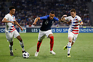 Corentin Tolisso of France and Wil Trapp of USA and Antonee Robinson of USA during the 2018 Friendly Game football match between France and USA on June 9, 2018 at Groupama stadium in Decines-Charpieu near Lyon, France - Photo Romain Biard / Isports / ProSportsImages / DPPI