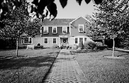Rockville Centre, New York, U.S. September 21, 2020. Ruth Bader and Martin Ginsburg were married in his family's Colonial home on Long Island in 1954. Brian Schiele and Chloe Schiele bought the house from Martin Ginsburg's sister and brother-in-law, Claire and Edward Steipleman.