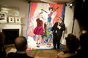 Alber Elbaz giving the presentation. , The Launch of the Lanvin store on Mount St. Presentation and cocktails.  London. 26 March 2009