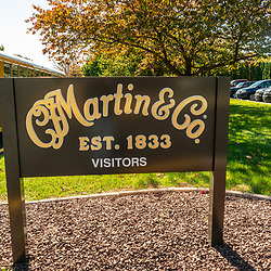 Nazareth, PA, USA - October 27, 2014:  C.F. Martin & Co. Factory Sign