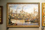 'The Port of London' 1911-12 oil painting on canvas, Anders Svarstad 1869-1943, Kode 3 art gallery Bergen, Norway