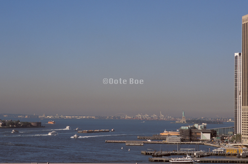 New York bay tip of Manhattan.