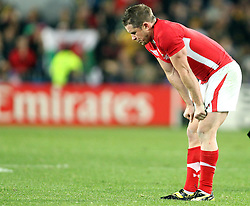 © SPORTZPICS/ Seconds Left Images 2011 - Wales' Shane Williams goes stands hands on knees at the final whistle -  Wales v Australia - Rugby World Cup 2011 - Bronze Final - Eden Park - Auckland - New Zealand - 21/10/2011 -  All rights reserved..