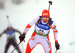Eveli Saue (EST) at Women 15 km Individual at E.ON Ruhrgas IBU World Cup Biathlon in Hochfilzen (replacement Pokljuka), on December 18, 2008, in Hochfilzen, Austria. (Photo by Vid Ponikvar / Sportida)