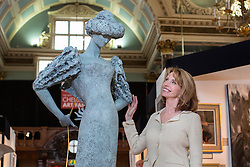© licensed to London News Pictures. London, UK 11/04/2013.  Jane Asher opens The Chelsea Art Fair at Chelsea Old Town Hall in London. The art fair offering contemporary and modern works of art from £500 to £20,000 and runs until April 14. Photo credit: Tolga Akmen/LNP