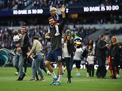 Tottenham Hotspur's Fernando Llorente and his family on the lap of appreciation