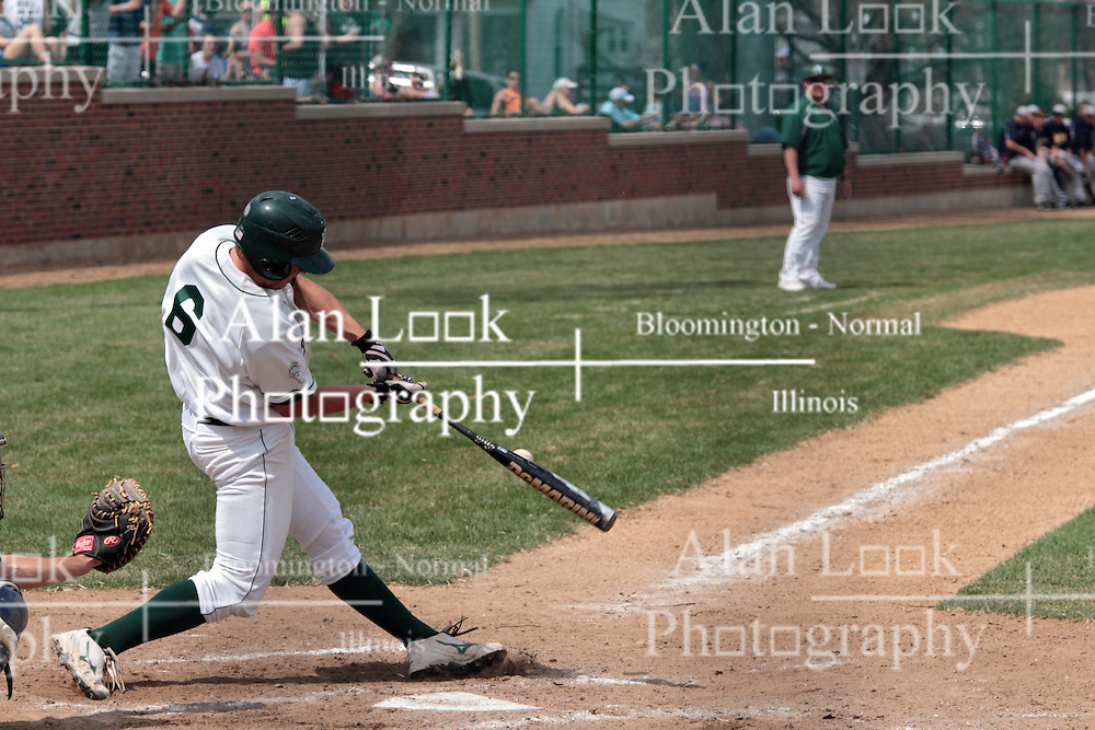 12 April 2014:  Nick Hahn during an NCAA division 3 College Conference of Illinois and Wisconsin (CCIW) baseball game between the Augustana Vikings and the Illinois Wesleyan Titans at Jack Horenberger Stadium, Bloomington IL