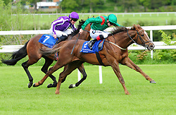 Hazappour ridden by Declan McDonogh win The Derrinstown Stud Derby Trial during Derrinstown Stud Derby Trial Day at Leopardstown Racecourse, Dublin.