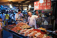 Miaokou Night Market (????) Keelung, Taiwan (?????).
