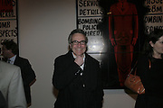 Stephen Bayley, Gilbert and George Major Exhibition. Tate Modern. Afterwards dinner at Christchurch Spitafields. London. 13 February 2007.  -DO NOT ARCHIVE-© Copyright Photograph by Dafydd Jones. 248 Clapham Rd. London SW9 0PZ. Tel 0207 820 0771. www.dafjones.com.