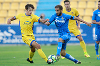 Getafe CF's Sergio Mora (r) and AD Alcorcon's Marco Sangalli during friendly match. August 9,2017. (ALTERPHOTOS/Acero)