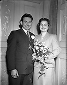 1953 - Wedding of Ernie Keeffe and Miss Claire O'Shaughnessy