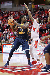 09 December 2017:  Terrell Miller Jr. defended by Jerron Martin during a College mens basketball game between the Murray State Racers and Illinois State Redbirds in  Redbird Arena, Normal IL