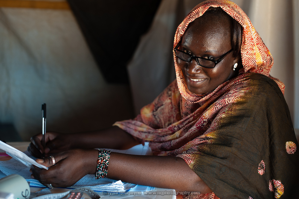 Obstetric Nurse, Arby Atta Maiga, at a Médecins Sans Frontières (MSF) health centre in the Mbera refugee camp for Malian refugees in Mauritania on 3 March 2013.