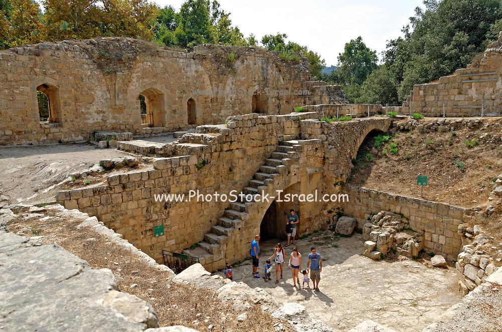 Israel, Jerusalem Mountains, Ein Hemed National Park (AKA Aqua Bella) Crusader-period building