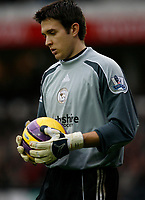 Photo: Steve Bond/Sportsbeat Images.<br />Derby County v Blackburn Rovers. The FA Barclays Premiership. 30/12/2007. Derby reserve keeper Lewis Price