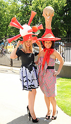 Race goers at the third day of the Royal Ascot 2010 (Ladies Day) Racing Festival at Ascot Racecourse, Bershire on 17th June 2010.