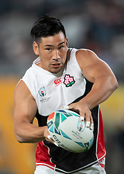 Japan's Ryoto Nakamura during the pre match warm up before the Pool A match between Japan and Russia at the Tokyo Stadium, Tokyo, Japan. Picture date: Friday September 20, 2019. See PA story RUGBYU Japan. Photo credit should read: Ashley Western/PA Wire. RESTRICTIONS: Editorial use only. Strictly no commercial use or association. Still image use only. Use implies acceptance of RWC 2019 T&Cs (in particular Section 5 of RWC 2019 T&Cs) at: https://bit.ly/2knOId6