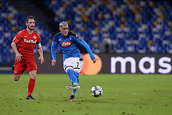 November 5, 2019, Napoli, Napoli, Italia: Foto Cafaro/LaPresse.5 Novembre 2019 Napoli, Italia.sport.calcio.SSC Napoli vs FC Salzburg - Uefa Champions League stagione 2019/20 Gruppo E, giornata 4 - stadio San Paolo.Nella foto: Jose Maria Callejon (SSC Napoli), Andreas Ulmer (FC Salzburg)...Photo Cafaro/LaPresse.November 5, 2019 Naples, Italy.sport.soccer.SSC Napoli vs FC Salzburg - Uefa Champions League 2019/20 season Group E matchday 4 - San Paolo stadium.In the pic: Jose Maria Callejon (SSC Napoli), Andreas Ulmer  (Credit Image: © Cafaro/Lapresse via ZUMA Press)