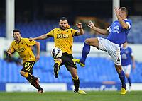 Everton's Darron Gibson and AEK Athens Dimitris Sialmas<br /> <br /> <br /> Everton v AEK Athens<br /> 8-8-2012<br /> Goodison Park<br /> Everton
