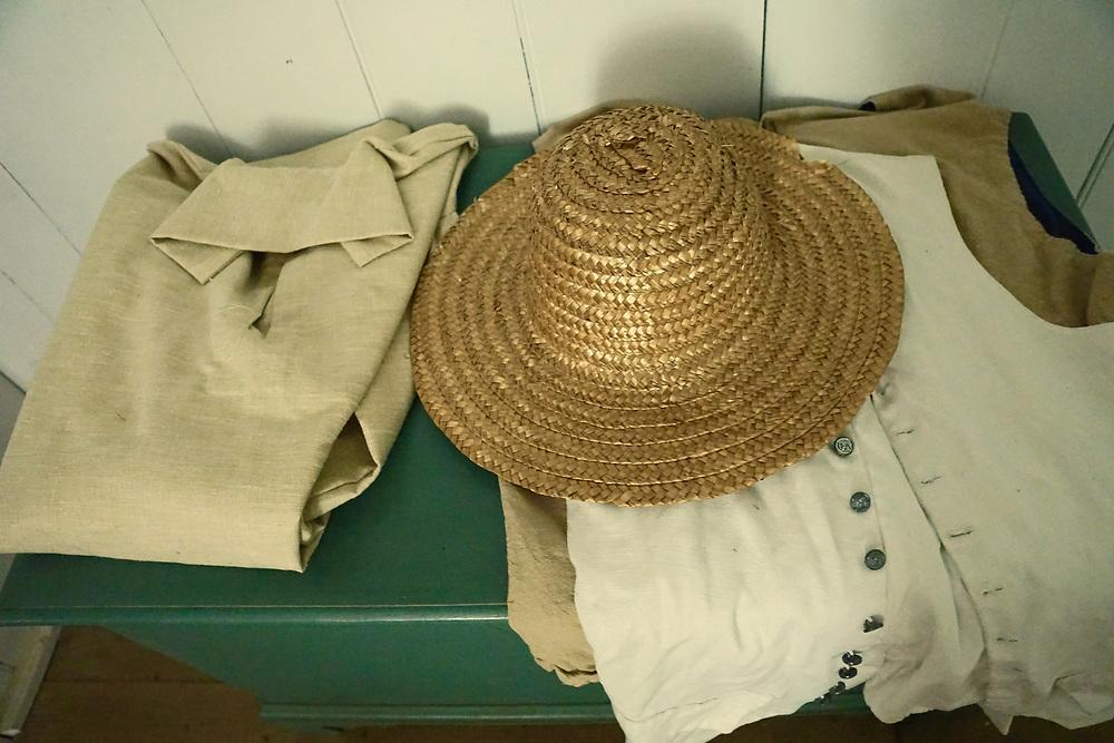 Colonial Plantation men's wear still life, Ridley Creek State Park, Delaware County, PA