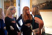 JULIETTA TENNANT; CHARLOTTE TILBURY; SYLVIE CHANTECAILLE, Glenda Bailey's Bazaar Greatest Hits book party. Savile Club. Brook St. London. 18 September 2011. <br /> <br />  , -DO NOT ARCHIVE-© Copyright Photograph by Dafydd Jones. 248 Clapham Rd. London SW9 0PZ. Tel 0207 820 0771. www.dafjones.com.