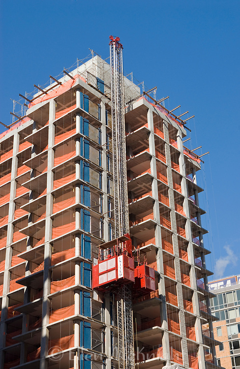 Construction of Condominiums on Roosevelt Island in Manhattan.