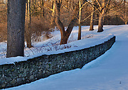 Stone wall, Wyomissing Creek Park, Wyomissing, Berks Co., PA