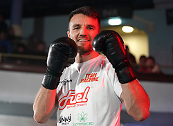 Anthony Fowler during a public workout at the Grand Central Hall, Liverpool. Picture date: Wednesday October 6, 2021.