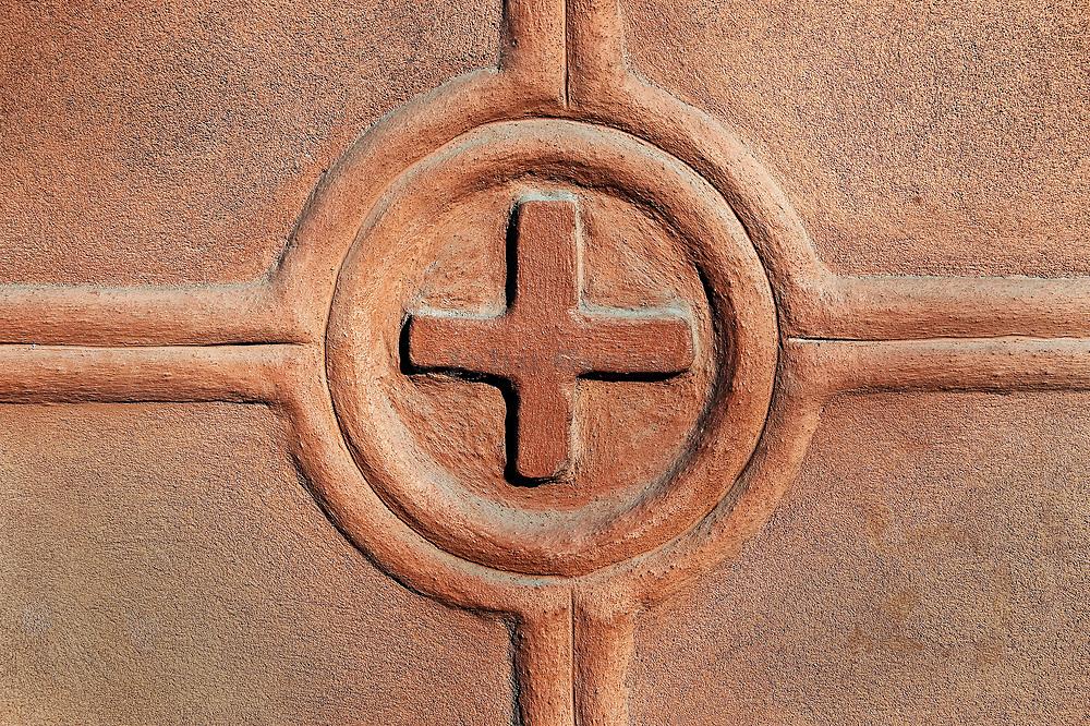 Architectural detail of a church.