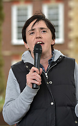 "© Licensed to London News Pictures.  10/09/2017; Bristol, UK. ANNE-MARIE WATERS, a candidate for the UKIP leadership, speaks to a group called British and Immigrants United Against Terrorism who joined forces with another group called Gays Against Sharia to stage a demonstration in Bristol city centre numbering about 50 people. A counter-protest was also held called 'Stand Up To Racism and Bigotry'. A statement issued to oppose the march says that the demonstrators ""claim falsely that they are representing the views of the LGBT+ community in Bristol,"" adding: ""In fact, none of the organisers are LGBT+ and all the proposed speakers come from outside Bristol."" A heavy police presence Police with riot vans dogs and horses were in attendance. Police banned face coverings, masks, banners and flags 'that might incite hatred' ahead of today's protests. Picture credit : Simon Chapman/LNP"