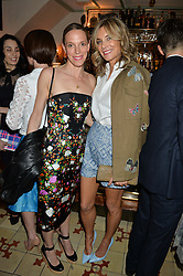 Left to right, TIPHAINE DE LUSSY and KIM HERSOV at a dinner hosted by Kate Spade NY to celebrate Chelsea in Bloom held at Daphne's, 112 Draycott Avenue, London on 20th May 2015.