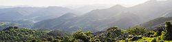 Panoramic view over Basque mountain