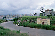 A view from Che Guevara's old home in East Havana towards the Malecon, Havana's curved promenade.