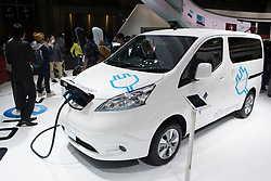 Nissan e-NV200 electric van at Tokyo Motor Show 2013 in Japan
