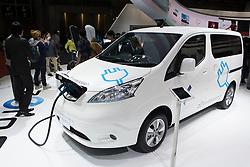 Nissan e-NV200 electric van at Tokyo Motor Show 2013 in Japan