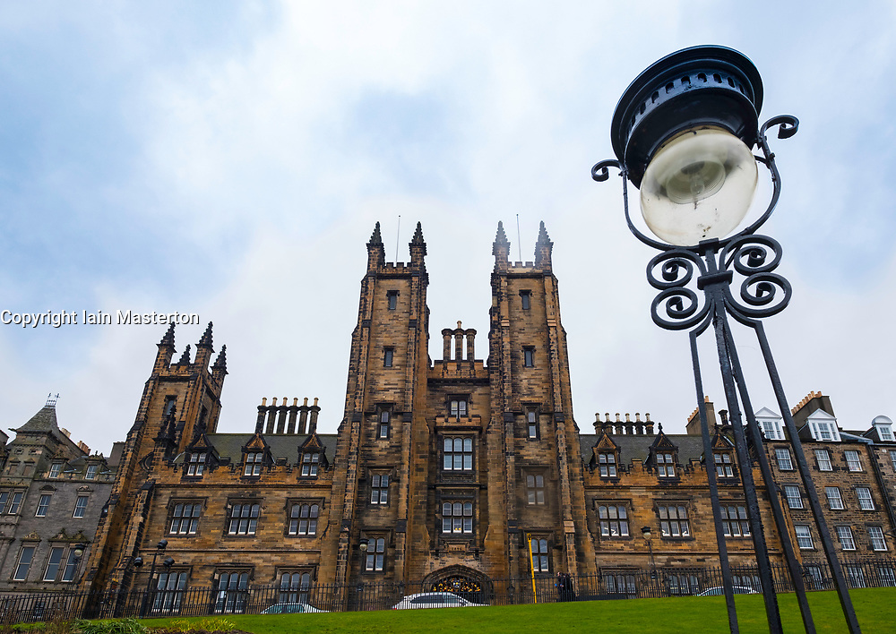 Edinburgh University New College on The Mound, Edinburgh, Scotland, United Kingdom