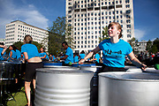One Thousand Pans. Players from steel band pan yards all over the UK converge at Jubilee Gardens on the South Bank to perform Ary Baroso's 1939 classic Aquarela do Brasil as a musical tribute to the passing of the Olympic torch from London to Rio. The Mayor's Thames Festival is London's largest outdoor arts festival and one of the most spectacular events of the year. It is a celebration of London and the River Thames, one that is free and open to all. A vibrant mixture of live music, dance, art installations, carnival, river races and street arts, the festival transforms the Thames and its banks and brings Londoners together at the heart of their city.