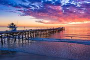 San Clemente Pier Sunset in December