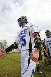 23 February 2008: Duke Blue Devils men's lacrosse midfielder Zack Greer (25) in a 19-7 win over the Vermont Catamonts at Koskinen Stadium in Durham, NC