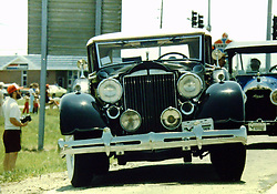 Great American Race travels through Bloomington - ~1984<br /> <br /> A scan from an old photo or slide from the collection of Alan and Becky Look.