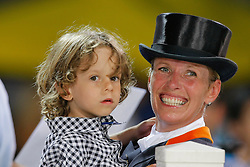 Van Grunsven Anky (NED) en zoon<br /> Olympic Games Hong Kong 2008<br /> Photo © Dirk Caremans - Hippo Foto