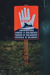 THEMENBILD - ein Hinweisschild mit STOP Lawinengefahr. Auf Grund der starken Schneefälle, ist die Strasse am Felbertauern aus Sicherheitsgründen und wegen Lawinengefahr gesperrt. Der Felbertauern ist eine wichtige Verbindungsstrasse zwischen Osttirol und Salzburg (Pinzgau), aufgenommen am 07. Dezember 2020 in Mittersill, Oesterreich // due to heavy snowfall, the road at Felbertauern is closed for safety reasons and because of the danger of avalanches. The Felbertauern is an important connecting road between East Tyrol and Salzburg (Pinzgau), in Mittersill, Austria on 2020/12/07. EXPA Pictures © 2020, PhotoCredit: EXPA/Stefanie Oberhauser